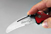 Special double pivot in the blade to open the knife with one hand and/or when using gloves. Ideal for left-handed too.